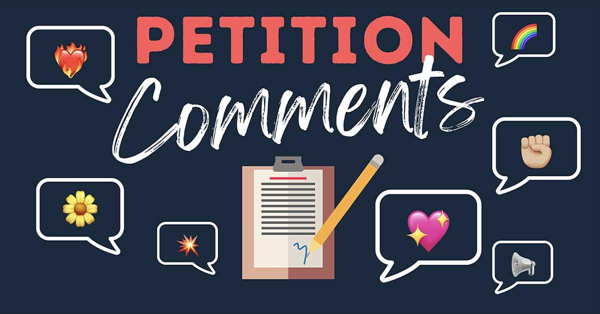 Petition Comments